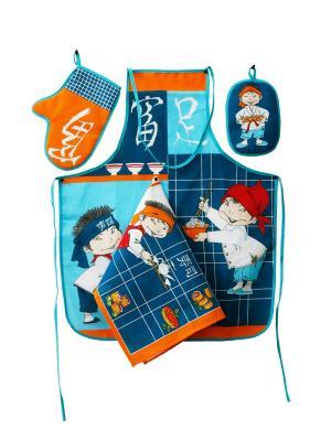 Набор кухонный Суши ZLATA KORUNKA. Цвет: синий