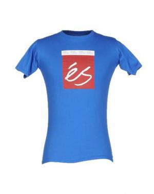 Футболка ÉS. Цвет: лазурный