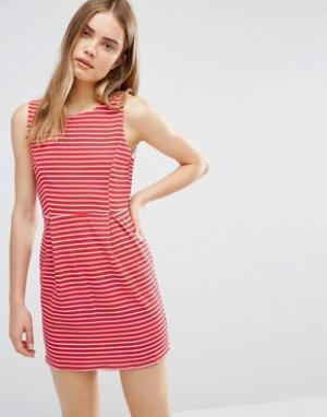 Wal G Платье в полоску. Цвет: красный