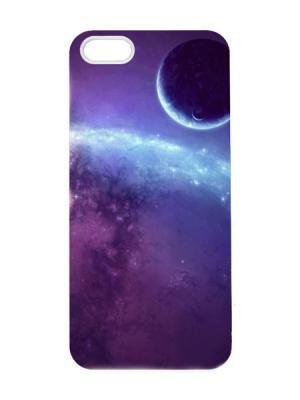 Чехол для iPhone 5/5s Космос Арт. IP5-074 Chocopony. Цвет: темно-фиолетовый, темно-бордовый