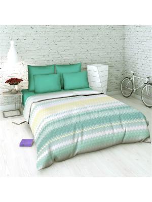 Комплект постельного белья 2 спальный Василиса. Цвет: бирюзовый