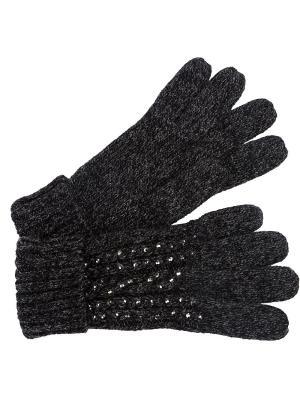 Перчатки J&Elisabeth. Цвет: темно-серый