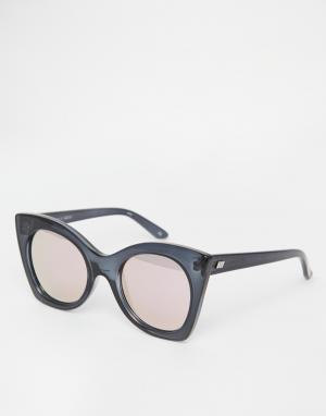 Le Specs Солнцезащитные очки в стиле oversize c розовыми стеклами Sava. Цвет: черный