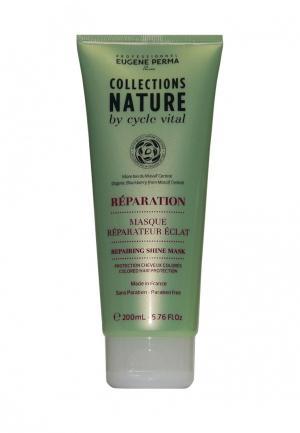 Маска для восстановления блеска волос Eugene perma. Цвет: зеленый
