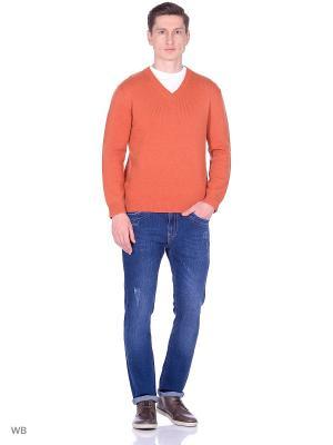 Пуловер Fine Joyce. Цвет: оранжевый
