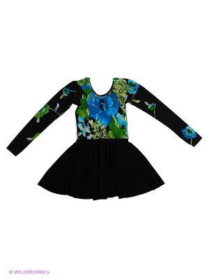 Гимнастический купальник Танцевальный Мир. Цвет: зеленый