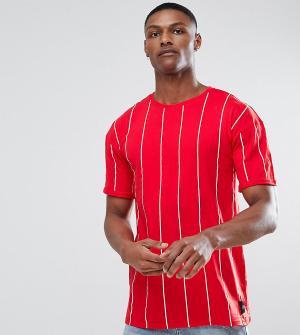 Sixth June Красная футболка в полоску TALL. Цвет: красный
