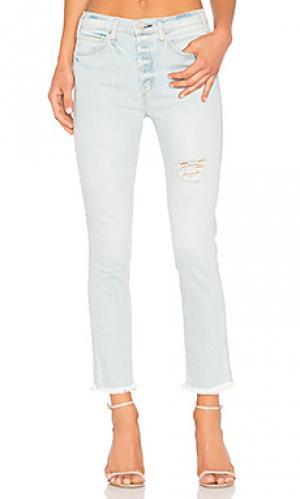 Винтажные тонкие джинсы с высокой талией MCGUIRE. Цвет: none