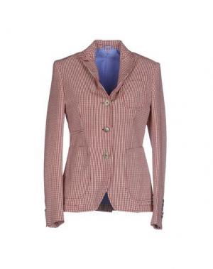 Пиджак JOHN SHEEP. Цвет: кирпично-красный