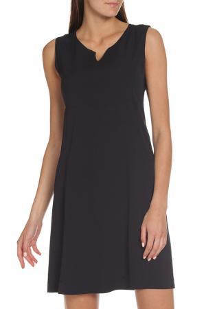 Полуприлегающее платье без рукавов EUROPEAN CULTURE. Цвет: темно-синий