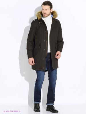 Куртка MERC. Цвет: темно-коричневый