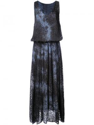 Платье с леопардовым рисунком Raquel Allegra. Цвет: синий