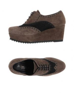 Обувь на шнурках JEANNOT. Цвет: хаки