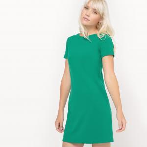 Платье с короткими рукавами, оригинальная спинка MADEMOISELLE R. Цвет: зеленый