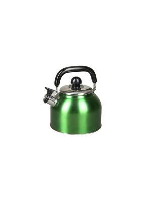 Чайник со свистком, 3л, сталь Elff Ceramics. Цвет: зеленый
