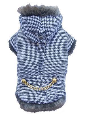 Куртка с мехом Doggy Dolly. Цвет: голубой, черный