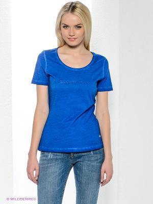 Футболка Bogner Jeans. Цвет: синий