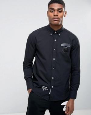 AAPE BY A BATHING APE Рубашка классического кроя. Цвет: черный