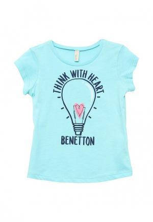 Футболка United Colors of Benetton. Цвет: голубой