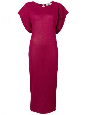 Платье миди с драпировкой Circus Hotel. Цвет: розовый и фиолетовый