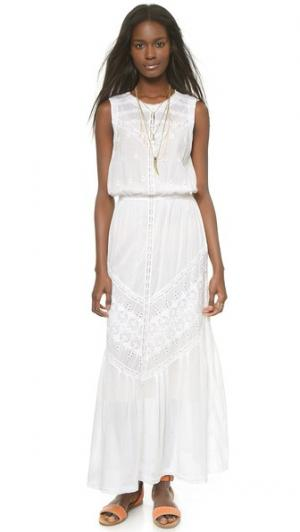 Макси-платье Ritual с вышивкой Burning Torch. Цвет: белый