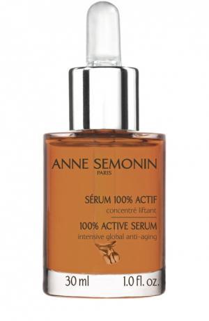 Антивозрастная сыворотка для лица, области шеи и декольте Anne Semonin. Цвет: бесцветный