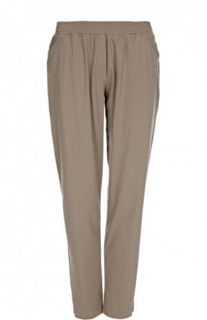 Хлопковые брюки с эластичным поясом Hanro. Цвет: хаки