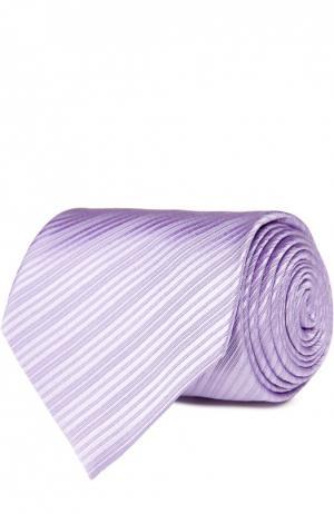 Шелковый фактурный галстук Tom Ford. Цвет: лиловый