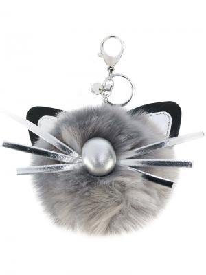 Брелок в виде кота Marc Cain. Цвет: серый