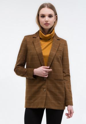 Пиджак MirrorStore. Цвет: коричневый