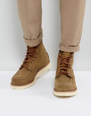 Red Wing Оливковые замшевые ботинки 6 Inch Classic. Цвет: бежевый