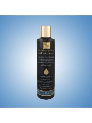 Скраб жидкий для лица Health & Beauty с грязью Мёртвого моря  Алоэ Вера и Ромашкой, 250мл. Цвет: черный