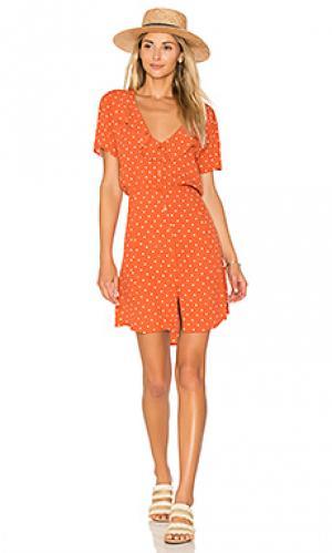 Дневное платье lilly AUGUSTE. Цвет: тёмно-оранжевый