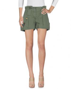 Повседневные шорты JO NO FUI. Цвет: зеленый-милитари