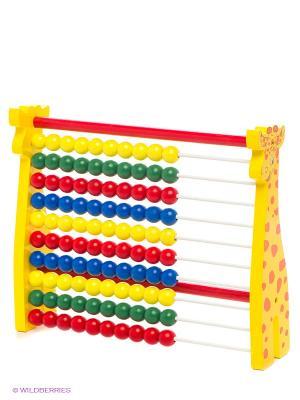 Счеты Жираф ЗАТЕЙНИКИ. Цвет: желтый, синий, зеленый, красный
