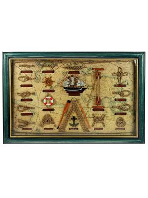 Коллаж Морские узлы Русские подарки. Цвет: коричневый