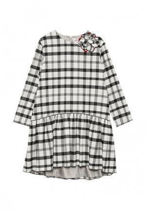 Платье Il Gufo. Цвет: серый