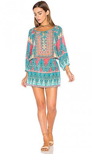 Платье eva Tolani. Цвет: синий