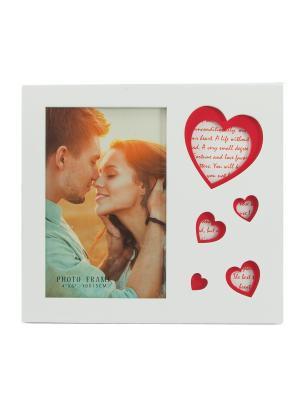 Фоторамка Сердца Русские подарки. Цвет: красный, белый