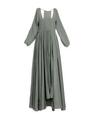 Длинное платье FRANCESCA PICCINI. Цвет: серый