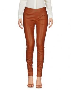 Повседневные брюки JITROIS. Цвет: коричневый