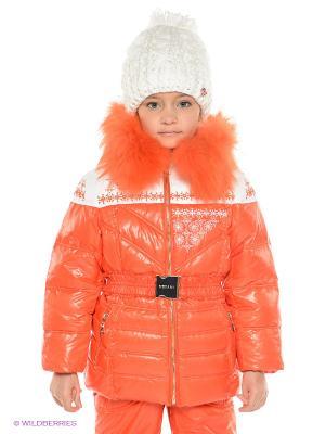 Куртка MES AMI. Цвет: оранжевый, белый