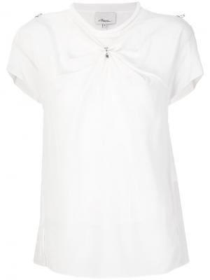 Приталенная блузка со сборкой 3.1 Phillip Lim. Цвет: белый