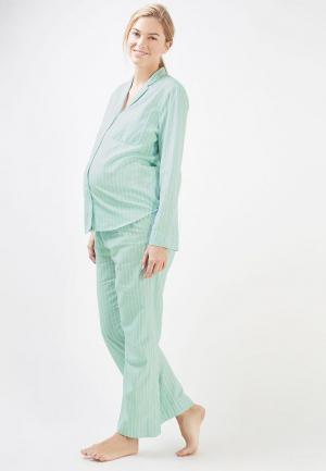 Пижама Topshop Maternity. Цвет: бирюзовый