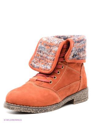 Ботинки Nexpero. Цвет: терракотовый