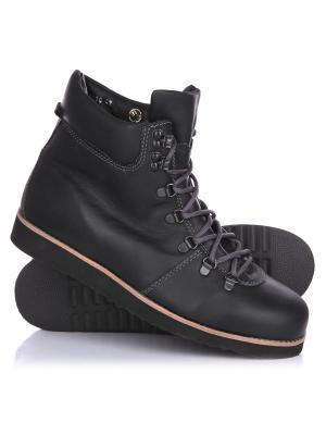Ботинки зимние Rheinberger Tim Leath Black: мужские, 12270, 40. Цвет: черный