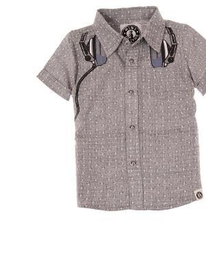 Рубашка Mini Shatsu. Цвет: серый