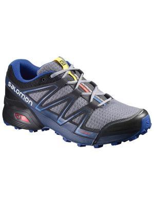 Кроссовки SHOES SPEEDCROSS VARIO PEARL GREY/BK/BL SALOMON. Цвет: серый,черный,синий