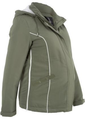 Куртка для беременных (оливковый) bonprix. Цвет: оливковый