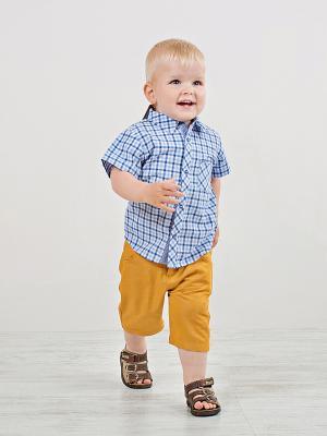 Рубашка для мальчика Bossa Nova. Цвет: синий